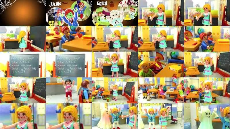Playmobil Film Deutsch MONSTER IN DER SCHULE! ALARM FÜR MINI GHOSTBUSTERS Halloween Familie Vogel
