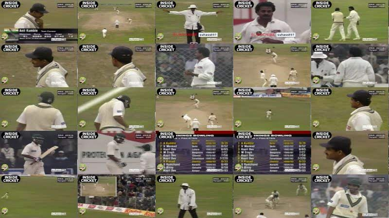 JAVAGAL SRINATH BOWLS AN OVER FULL OF WIDES TO HELP KUMBLE
