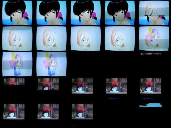 1990年頃のPCによるアニメキャラCGデモ Part2 (Animation Characters demo for old PC)