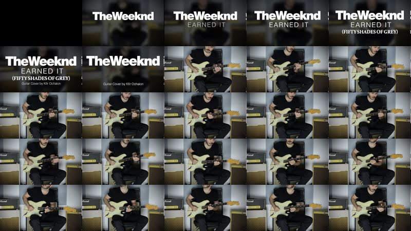 The Weeknd - Earned It - Electric Guitar Cover by Kfir Ochaion
