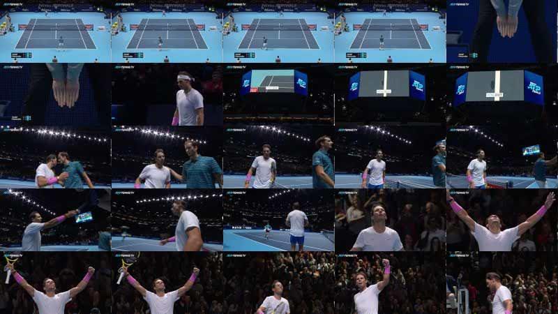 Rafa Nadal Saves Match Point in EPIC Comeback vs Medvedev   Nitto ATP Finals 2019