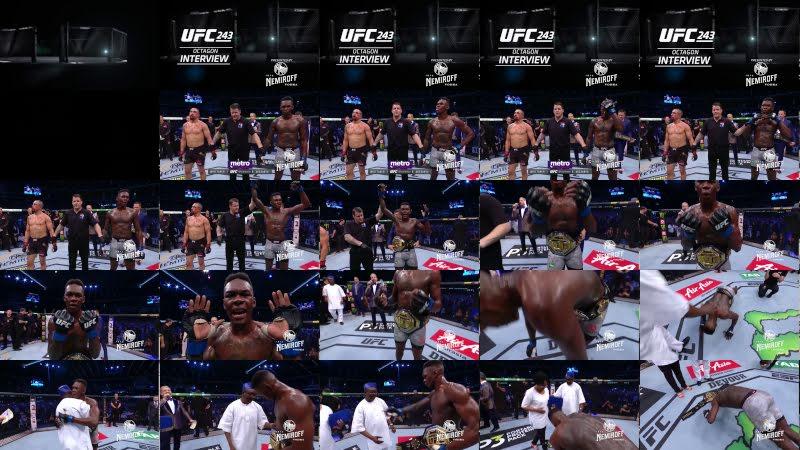 UFC 243: Israel Adesanya and Robert Whittaker Octagon Interview