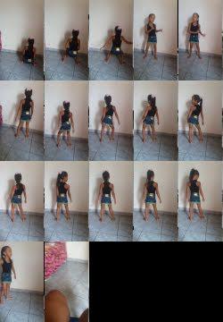 Menina de 6 anos  dançando  funk